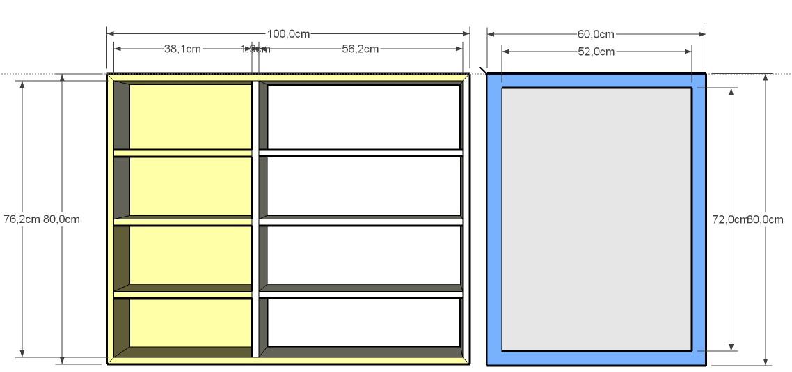 Bauplan: Spiegelschrank