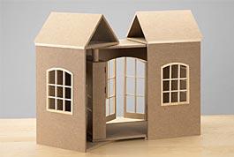 puppenhaus selber bauen, Garten und erstellen
