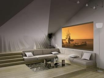 projektionsfl che f r ein heimkino. Black Bedroom Furniture Sets. Home Design Ideas